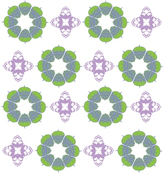 Purple and green hop flowers digital seamless vector