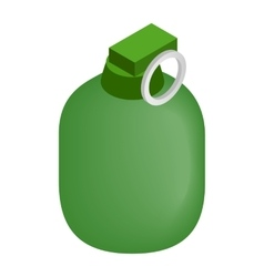 Hand grenade 3d isometric icon vector