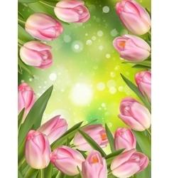 Easter spring background EPS 10 vector image