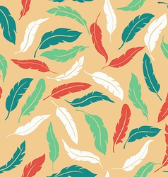 Abstract colorful seamless feathers pattern vector