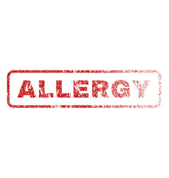 allergy rubber stamp vector image