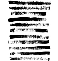 Black and white sponge print striped grunge vector