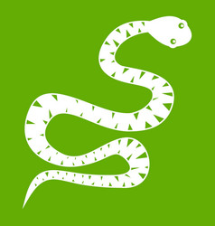 black snake wriggling icon green vector image vector image