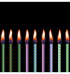 candles on black background eps 8 vector image vector image