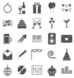 Celebration icons on white background vector image vector image