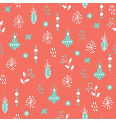 Christmas seamless pattern pink blue vector