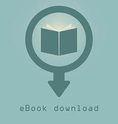 Downloading e books icon vector