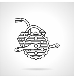 Electric bike crankset icon vector image