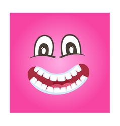 Frisky smiley face icon vector