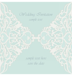 Invitation card with lace ornaments vector
