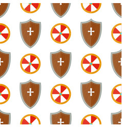 knight shield medieval weapons heraldic knightly vector image vector image