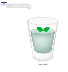 Lemonana or in Israeli Frozen Mint Lemonade vector image vector image