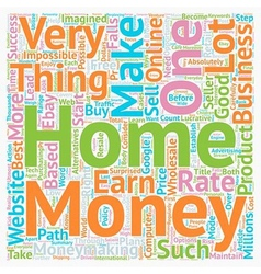 Make money from home text background wordcloud vector