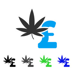 Marijuana pound business flat icon vector