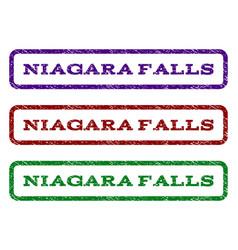 Niagara falls watermark stamp vector