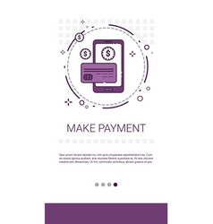 Online payment service mobile transaction banner vector