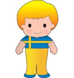 Poppy sweden boy vector