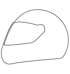 racing helmet the black color icon vector image