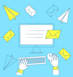 Send a letter email marketing vector