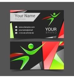 Superhero holding card logo abstract vector