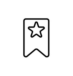 thin line bookmark icon vector image