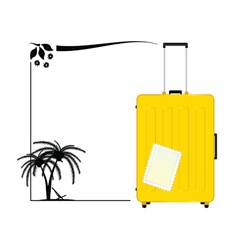 travel bag icon paradise vector image vector image