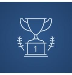 Trophy line icon vector