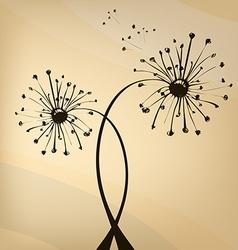 vektor unusual dandelion vector image vector image