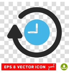 Repeat clock eps icon vector