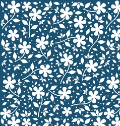 Retro flower background vector image