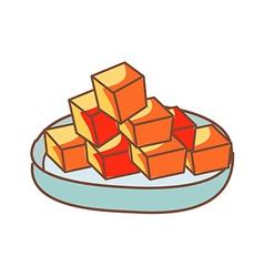Diced Radish Kimchi vector image