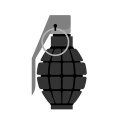 Military grenade black army explosives soldiery vector