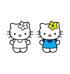 Hello kitty printed on poster vector