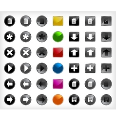 Set web buttons with icons vector