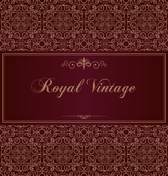 Royal vintage card vector