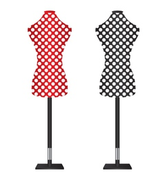 Female Dressmakers Mannequin vector image