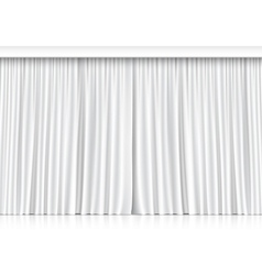 White curtains isolated on white background vector