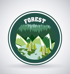 Forest camping design vector