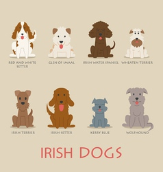 Set of irish dogs vector