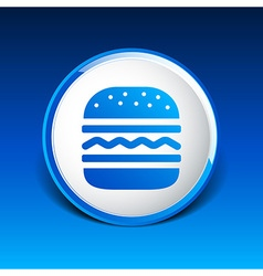 Hamburger web icon burger bun logo vector