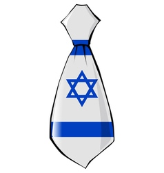 Necktie in national colours of israel vector