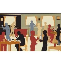 Pub life vector image