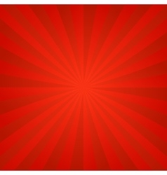Red ray burst background vector