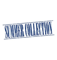 Summer collection blue grunge vintage stamp vector