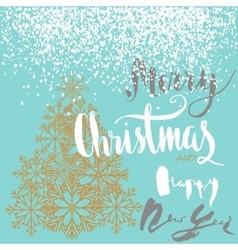 Christmas and happy new year handeritten lettering vector