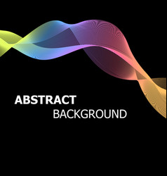 Abstract background with colourful pastel lines vector