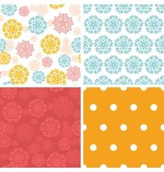 abstract decorative circles stars set of vector image vector image