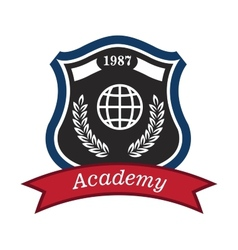 Academy emblem vector image vector image