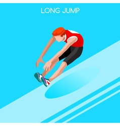 Athletics jump 2016 summer games 3d isometric vector