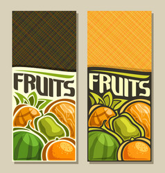 banners for fruits vector image